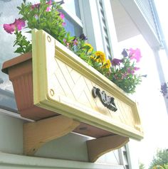 Dresser Drawer Upcyle: Window Boxes For Planters