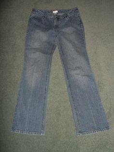 Women's Blue Denim ANN TAYLOR LOFT Boot Leg Western Style Jeans, Size 8, GUC! #AnnTaylorLOFT #BootCutCountryWesternJeans