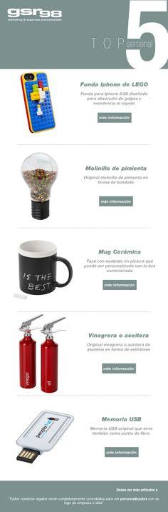 Como todas las semanas, os presentamos nuestro top 5 en #regalos… destacar que hay algunos productos que parecen  ser y no son… No os lo perdáis http://www.regalodeempresagsr98.es/mail/11-02-14/