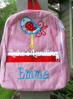 Toddler Backpacks Appliqued Small by lukeslanding on Etsy, $27.00