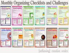 Monthly Organizing Checklists are Back {and Better}!!