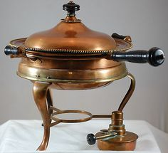 Sutterly Antique Copper And Brass  Chafing Dish  1906