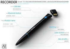 Pen that remembers what you write and saves to a file that can be opened on your computer and print.