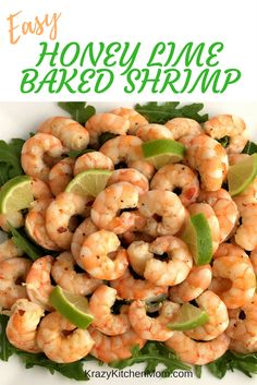 Easy Honey Lime Baked Shrimp can be served cold or hot as an appetizer or a main dish over pasta. It will brighten up any summertime get together.