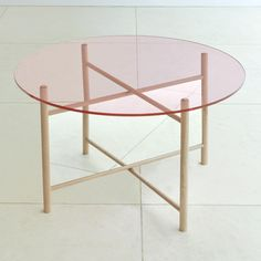 Elias & Son tables by llot llov   Look carefully at these and you'll see that there's a mirror in the wooden under-frame