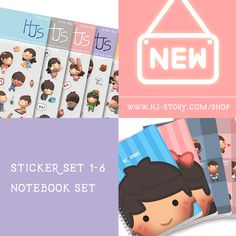 New notebooks and sticker sets now available on our web store! (www.hj-story.com/shop)