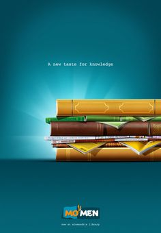 Ads creative - 12 Creative Examples of Bookish Advertising – Ads creative Creative Advertising, Ads Creative, Creative Posters, Advertising Poster, Advertising Design, Advertising Campaign, Restaurant Advertising, Commercial Advertisement, Food Advertising