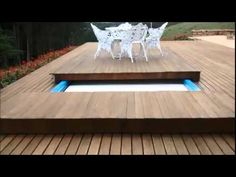 Cobertura de Segurança para Piscinas em Tesoura - Security covers for swimming pools - YouTube Small Swimming Pools, Small Pools, Pool Decks, Garden Pool, Pergola Kits, Ping Pong Table, Dining Table, Backyard, Outdoor Decor