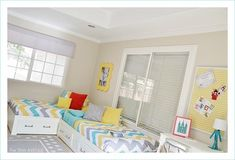 corner beds...space saver...link includes other ideas for kids room for multiple kids from lil blue boo