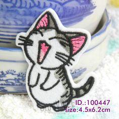 """Aliexpress.com: Comprar 100447 coquetería gatito! hierro en remiendos hace of bordado """" fáciles de aplicar, sólo Iron On """" garantizado 100% de calidad + bajo costo de parche americano fiable proveedores en Iron-On Patches"""