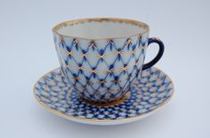russian tea cups | VINTAGE Russian Porcelain Coffee or Tea Cup and Saucer, USSR Porcelain