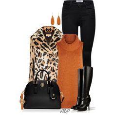 """Michael Kors Faux Fur Leopard Coat"" by amy-phelps on Polyvore"