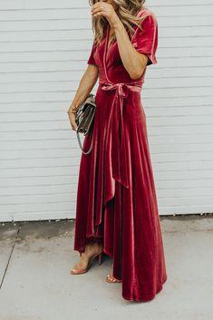 awesome Очаровательное бархатное платье — Фото актуальных тенденций 2018 года