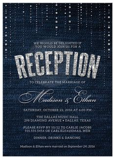 Post Elopement Party Invitation Wording