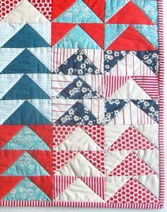 Mini Quilt of the Month, July: FlyingGeese - The Purl Bee - Knitting Crochet Sewing Embroidery Crafts Patterns and Ideas!