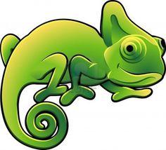 Une illustration vectorielle d'un mignon lézard caméléon  Banque d'images - 2994383