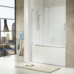 Features:  -1 Sliding and 1 stationary panel.  -High quality 304 stainless steel hardware.  -Magnetic door sealing.  -Reversible for right or left door opening installation.  -Frameless glass design.