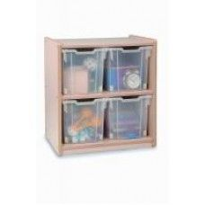 Plastic Storage & Trays: 4 Jumbo Tray Melamine Storage - 2 Cartons
