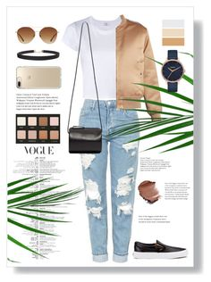 """""""Untitled #25"""" by mithaafatimah on Polyvore featuring RE/DONE, Givenchy, Vans, MANGO, Building Block, LORAC, Nixon, Humble Chic and Speck"""