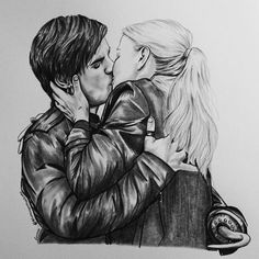 That scene definitely warms my heart... - #CaptainSwan - New drawing of Jennifer Morrison and Colin O'donoghue -