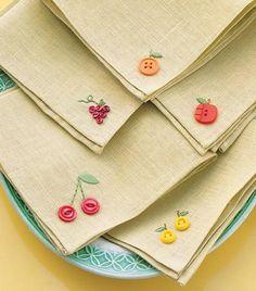 DIY - frutinhas de botões