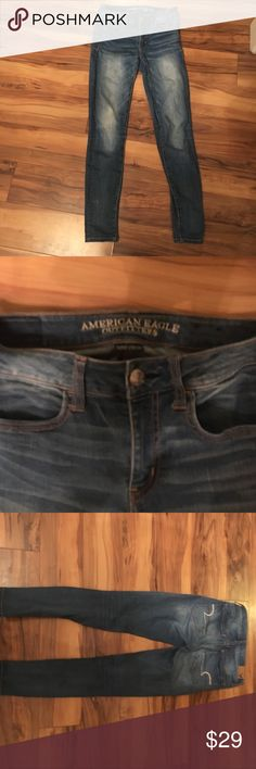 American Eagle jeans size 2 short super stretch Good condition American Eagle size 2 short jeans Jeans
