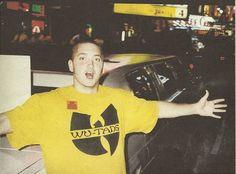 Slim Shady supports the Shaolin Slums. #Eminem #WuTang