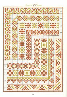 ru / Valentina-A - Альбом Cross Stitch Bookmarks, Cross Stitch Borders, Crochet Borders, Cross Stitch Samplers, Cross Stitch Flowers, Cross Stitch Designs, Cross Stitching, Cross Stitch Embroidery, Knitting Charts