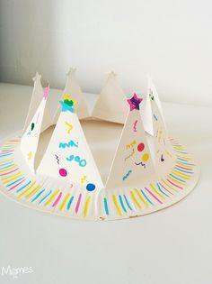 Fabriquer une couronne avec une assiette en carton