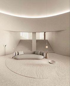 Interior Minimalista, Curved Walls, Piece A Vivre, Space Architecture, Minimal Architecture, Minimalist Interior, Interiores Design, Interior And Exterior, House Design