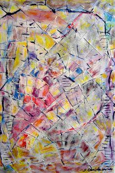 Body of confusion,Olie på gips (60x40) 2010 af Svend Christensen