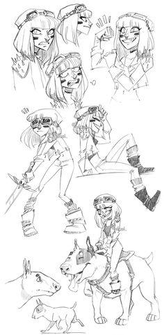 http://www.deviantart.com/art/warrior-princess-sketch-dump-568907600