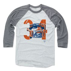 Walter Payton Number QB Chicago Officially Licensed Baseball T-Shirt Unisex S-3XL