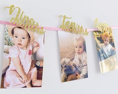 First Birthday Girl Photo Wall Banner// 12 months Banner Cutout with Love Heart//Party Decorations//Pink & Gold Glitter//Cake Smash//Age One. Created by Inspired by Alma - Custom Party Decorations for all occasions. Gold First Birthday, First Birthday Banners, First Birthday Photos, Girl Birthday, Birthday Cake, First Birthday Party Decorations, Girls Party Decorations, First Birthday Parties, First Birthdays