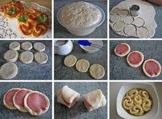 ways to fold the test Food Art, Cereal, Baking, Vegetables, Breakfast, Desserts, Google Translate, Basket, Puff Pastries