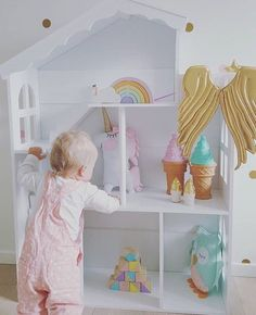 """Handmade Heart Shop on Instagram: """"Eek! How cute is this shot from @trollsteinen?! And So many pastel pretties for baby to love in this life size dollhouse display, including our Ally Unicorn! I'm in love @trollsteinen ✖️Shop restock: April 30th 10pm GMT✖️"""""""