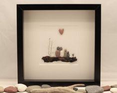 Artículos similares a Guijarro arte Family3, guijarro arte regalo, arte de la familia 3, regalo de aniversario, regalo de boda, arte de canto de boda, decoración para el hogar en Etsy