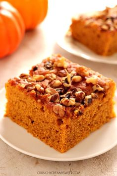 Snickerdoodle Pumpkin Cake - soft and moist pumpkin cake with snickerdoodle topping: cinnamon sugar! The addition of nuts makes it even better!