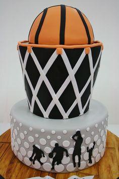 Custom basketball cake for a Bar Mitzvah by www.sweetgrace.net