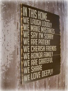 In This HomeHouse RulesAntiqued Plank Typography by cellardesigns, $179.00