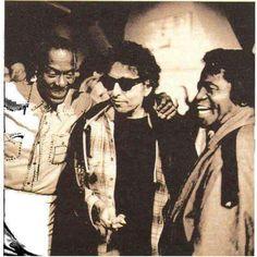 Chuck Berry, Bob and James Brown!