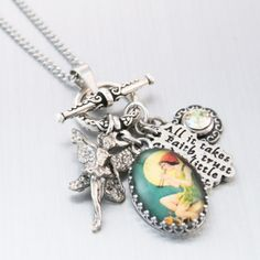tinkerbell necklace, peter pan necklace  #sellergroup
