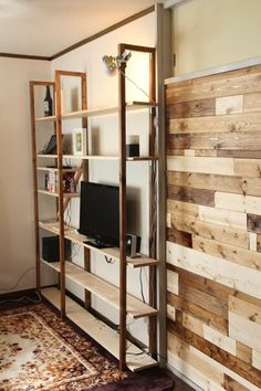 Bookshelf Design, Bookshelves, Diy Interior, Interior Design, Modern Office Decor, Diy Desk, Home And Living, Decoration, Ladder Decor
