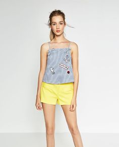 ZARA - NEW IN - STRIPES AND PATCHES TOP
