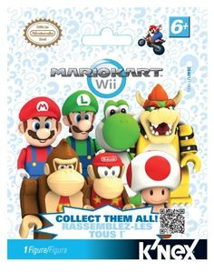 Mario Kart WII Mystery Bags by K'NEX. $4.42. From the Manufacturer                Build EVEN MORE of your favorite characters from Mario Kart Wii with the K'NEX Wii Mario Kart Mystery Figure Pack - (Colors/Styles Vary). Mario, Luigi, Yoshi and Bowser are now joined by Diddy Kong, Donkey Kong, and Toad!  Which character will you get? Each Mario Kart Wii mystery bag includes 1 (ONE) buildable figure from Mario Kart Wii! Collect all 7!                                    Product Desc...
