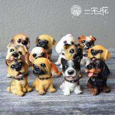12名犬仿真狗  动物摆件 多肉盆栽用 的图片