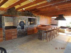 Outdoor Kitchen Patio, Outdoor Kitchen Design, Backyard Patio, Outdoor Living, Cabin Design, House Design, Parrilla Exterior, Bbq Bar, Outdoor Cooking