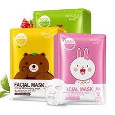 BIOAQUA Whitening Magnetic Facial Mask Deep Moisturizing Sheet Mask Oil Control Brighten Skin Mask for Face Korean Cosmetics Face Mask For Pores, Acne Face Mask, Skin Mask, Face Facial, Facial Masks, Tony Moly, Collagen Facial, Animal Face Mask, Moisturizing Face Mask