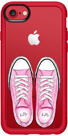 Casetify iPhone 7 Classic Grip Case - Pink Shoes Sporty Girl Summer Fashion City Girl Sport Shoes Sneakers by Karamfila Siderova