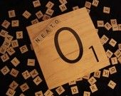 Giant Scrabble tile Wooden Letter - 1 tile